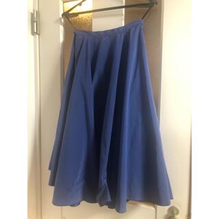 ダブルスタンダードクロージング(DOUBLE STANDARD CLOTHING)の<美品>ダブスタ フレアースカート(ブルー系)(ひざ丈スカート)