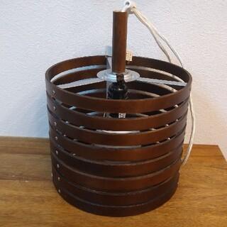 ニトリ(ニトリ)の木製ペンダントシェード、ソケット、LED電球セット(天井照明)