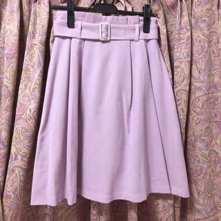 MISCH MASCH - ミッシュマッシュ タックフレアスカート ピンク