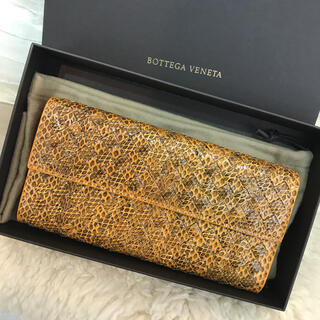 Bottega Veneta - ☆未使用品☆ボッテガヴェネタ 長財布 アイヤーズ パイソン イントレチャート