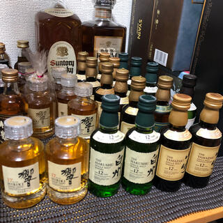 サントリー響17年 山崎12年 白州12年 ウイスキーミニボトル6セット