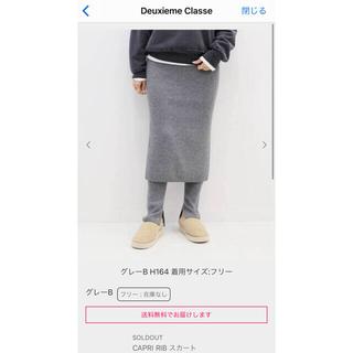 ドゥーズィエムクラス(DEUXIEME CLASSE)のDeuxieme Classe CAPRI リブスカート、レギンス(ひざ丈スカート)