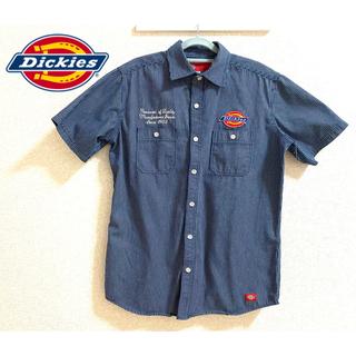 ディッキーズ(Dickies)の90's Dickies ディッキーズ ロゴワッペン ストライプ ワークシャツ(シャツ)