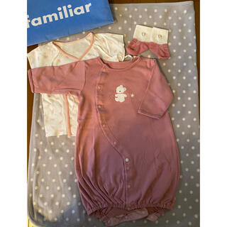 ファミリア(familiar)のファミリア ロンパース 肌着 靴下 3点セット(ロンパース)
