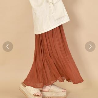 ダブルクローゼット(w closet)の【w closet 】シフォン楊柳ワッシャーロングスカート(ロングスカート)
