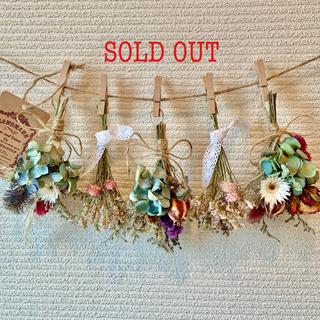 お花たっぷりドライフラワー スワッグ ガーランド❁88 紫陽花 ブルー 花束♪(ドライフラワー)