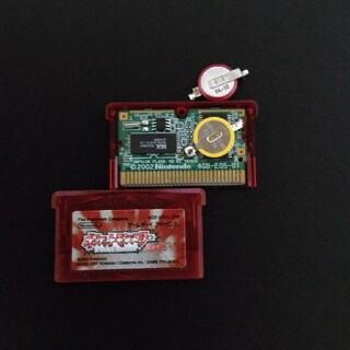 ゲームボーイアドバンス(ゲームボーイアドバンス)のGBAゲームボーイアドバンス ポケットモンスター ルビー 新品 電池交換(携帯用ゲームソフト)