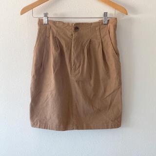 レトロガール(RETRO GIRL)のスカート  スエード調 ベージュ 未使用(ひざ丈スカート)