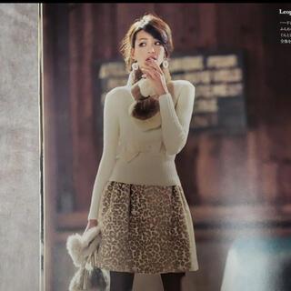 M'S GRACY - 美品◆エムズグレイシー カタログ掲載 秋冬 レオパード スカート サイズ38