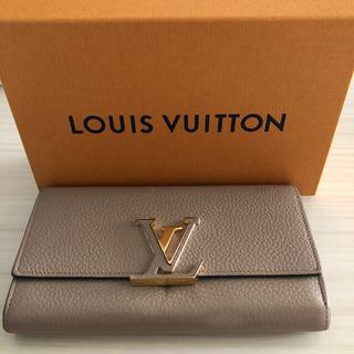 LOUIS VUITTON - ルイヴィトン ポルトフォイユ・カプシーヌ M61249 二つ折り長財布 小銭入れ