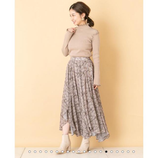 who's who Chico(フーズフーチコ)のchico  花柄ワッシャーシフォンフレアスカート  レディースのスカート(ロングスカート)の商品写真