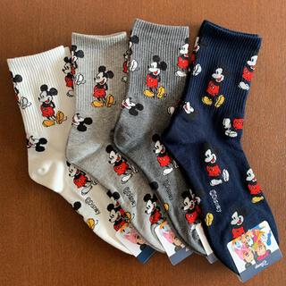 ディズニー(Disney)のディズニー ミッキー 靴下 4足(ソックス)