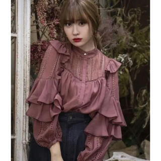 snidel - herlipto Puffed Sleeve Lace blouse
