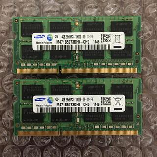 サムスン(SAMSUNG)のSAMSUNG 4GB 2Rx8 PC3 RAM 2枚セット(PCパーツ)