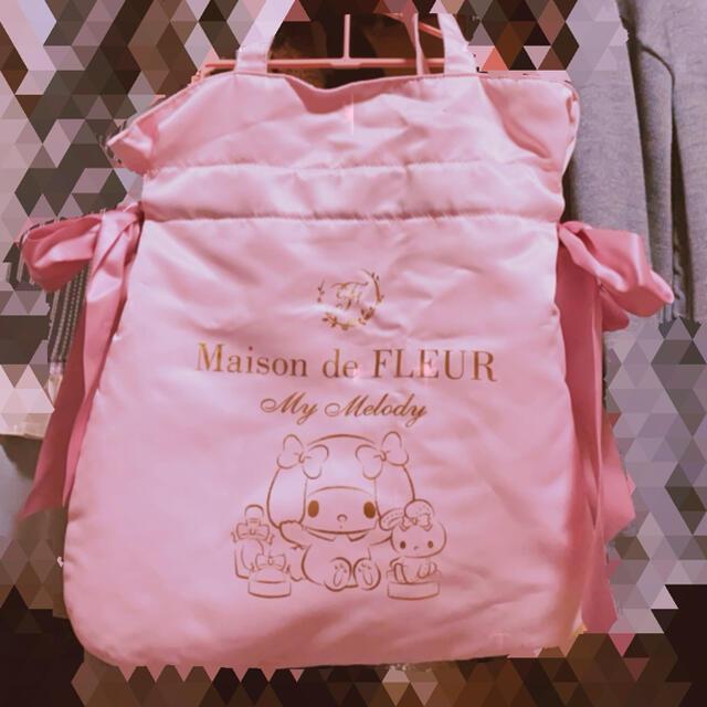 Maison de FLEUR(メゾンドフルール)のMaison de FLEUR  マイメロディ コラボ バック レディースのバッグ(トートバッグ)の商品写真