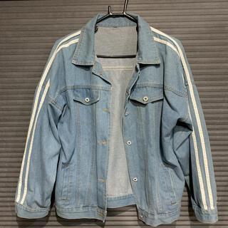 韓国ファッション EXILE ライン デニム ジャケット ビッグ オーバーサイズ