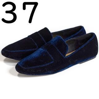 ザラ(ZARA)のZARA TRF ベルベット ローファー 37 24cm ザラ(ローファー/革靴)