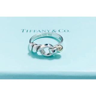 ティファニー(Tiffany & Co.)のレア ティファニー フック&アイ コンビ sv925  k18 リング 正規品(リング(指輪))