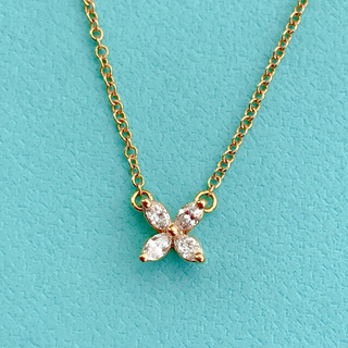 Tiffany & Co. - ティファニー ビクトリア ペンダントミニ K18ローズゴールド ネックレス