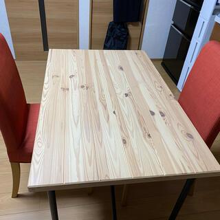 イケア(IKEA)のイケア ダイニングテーブル イス2脚セット(ダイニングテーブル)