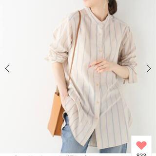 IENA - IENA キュプラコットンドビーストライプシャツ