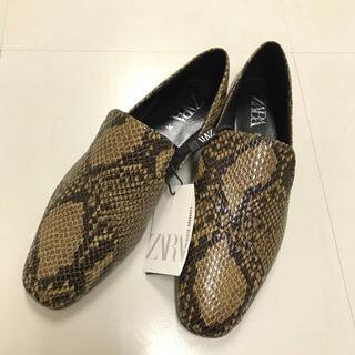 ザラ(ZARA)の送料無料 ZARA フラットローファーシューズ(ローファー/革靴)