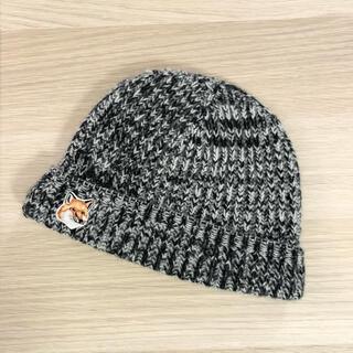 メゾンキツネ(MAISON KITSUNE')のメゾンキツネ  ニットキャップ ビーニー ニット帽(ニット帽/ビーニー)