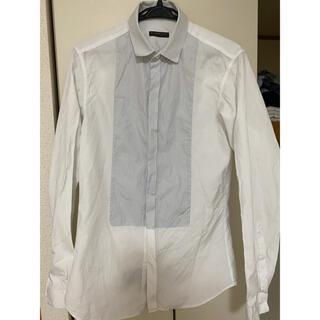 バーバリー(BURBERRY)のバーバリープローサム プリーツシャツ 40-15 イタリア製(シャツ)