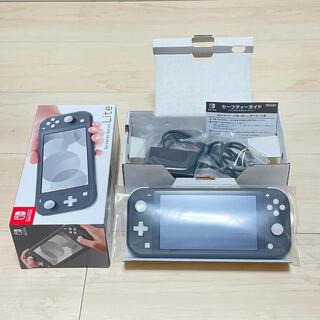 Nintendo Switch - 美品 ニンテンドー スイッチ ライト Switch Lite 本体 グレー