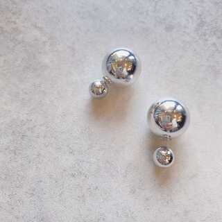 トゥデイフル(TODAYFUL)の#869 import pierce : double sphere sv(ピアス)