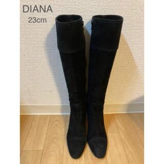DIANA - DIANA ダイアナ 美品♪ スエードロングブーツ 黒23cm