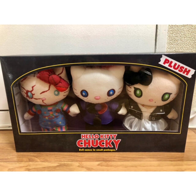 USJ(ユニバーサルスタジオジャパン)のUSJ キティ チャッキー ぬいぐるみ3個セット エンタメ/ホビーのおもちゃ/ぬいぐるみ(キャラクターグッズ)の商品写真