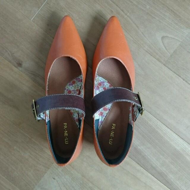 パンプス ストラップ付きオレンジ  レディースの靴/シューズ(ハイヒール/パンプス)の商品写真