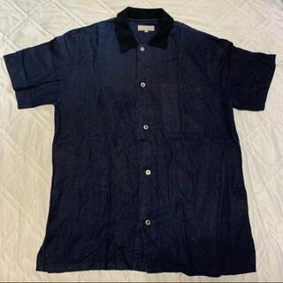 マーガレットハウエル(MARGARET HOWELL)のMARGARET HOWELL 半袖シャツ Navy M(シャツ)