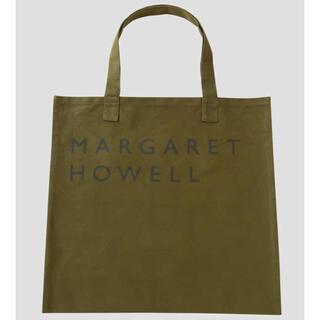 マーガレットハウエル(MARGARET HOWELL)の新品未使用 MHL. COTTON CANVAS LOGO BAG カーキ(トートバッグ)
