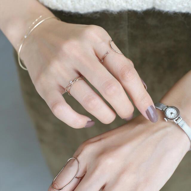 ete(エテ)のSIENA ROSE JUNERI リング 2連ペアシェイプ レディースのアクセサリー(リング(指輪))の商品写真