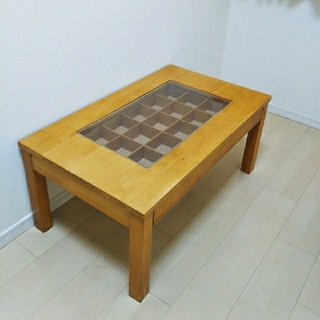 美品 ショーケース引き出し付 テーブル(ローテーブル)