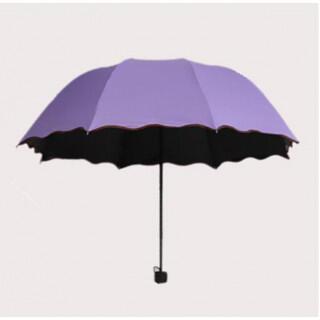 花柄 紫 雨 折りたたみ傘 レディース コンパクト 軽量 紫外線 UVカット(傘)