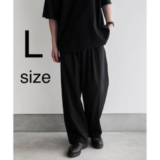 remer タックワイドパンツ ブラック Lサイズ