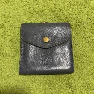 イルビゾンテ(IL BISONTE)の最終値下げ イルビゾンテ  がま口二つ折り財布 チャコールグレー(財布)