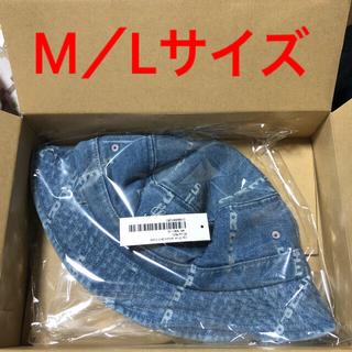 シュプリーム(Supreme)のM/L Logo Stripe Jacquard Denim Crusher 青(ハット)