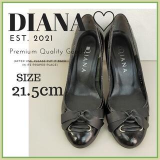 ダイアナ(DIANA)のダイアナ DIANA パンプス 黒 サイズ 21.5cm リボン 卒業式 (ハイヒール/パンプス)