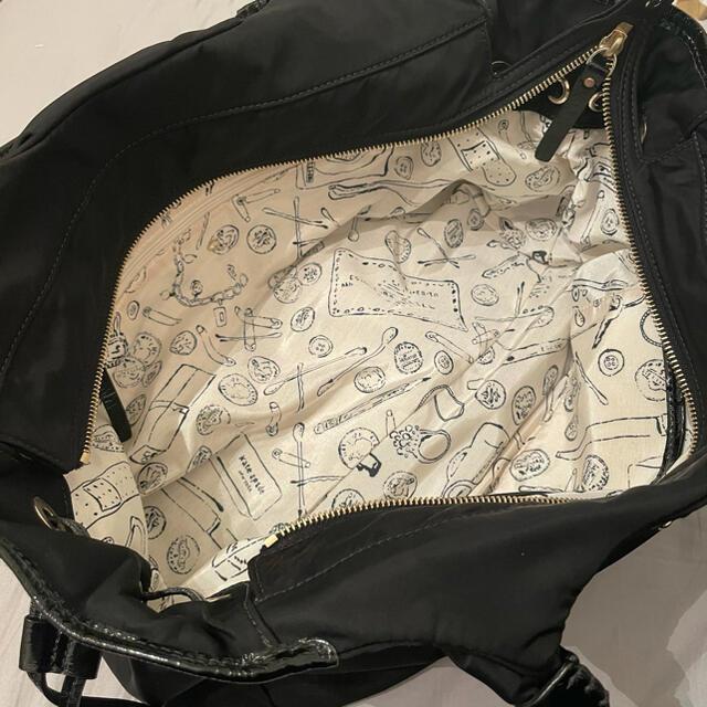 kate spade new york(ケイトスペードニューヨーク)のケイトスペード 黒ナイロンバッグ レディースのバッグ(ハンドバッグ)の商品写真