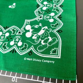 ディズニー(Disney)のミッキーマウス バンダナ グリーン/ディズニー(バンダナ/スカーフ)