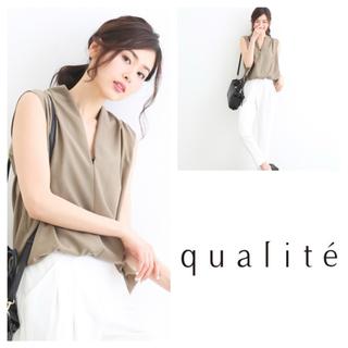 qualite - カリテ ♥ Vネックとろみブラウス