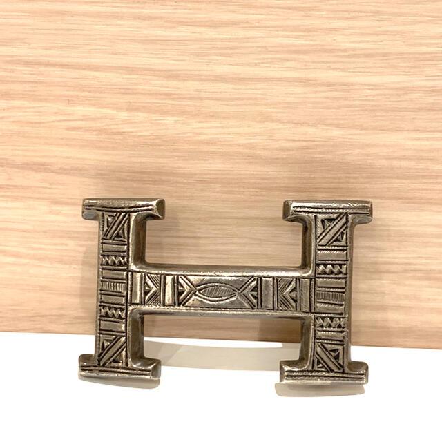 Hermes(エルメス)のHERMES トゥアレグ H ベルトバックル silver  used品 メンズのファッション小物(ベルト)の商品写真
