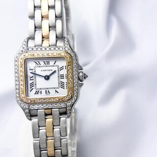Cartier - 【OH済】カルティエ パンテール 1ロウ コンビ ダイヤ レディース 腕時計