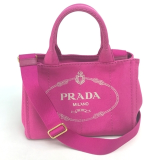 PRADA - プラダ カナパ トートバッグ 1BG439 三角ロゴプレート FUXIA ピンク