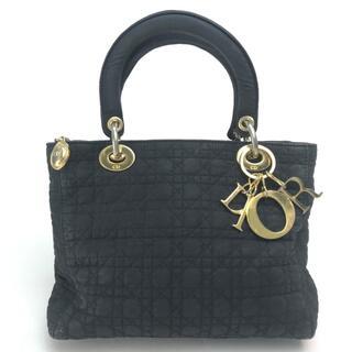 Christian Dior - クリスチャンディオール レディディオール ハンドバッグ ロゴチャーム ブラック