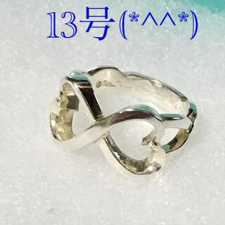 ティファニー(Tiffany & Co.)のティファニーダブルラビングハートリング 13号(*^^*)(リング(指輪))